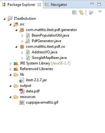 Itext java html to pdf